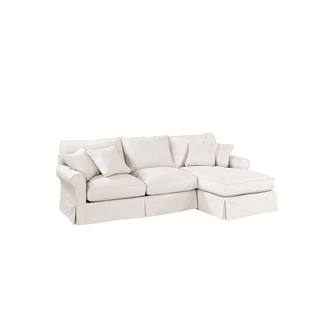 Baldwin 2 piece sectional with right arm chaise for Ballard designs chaise