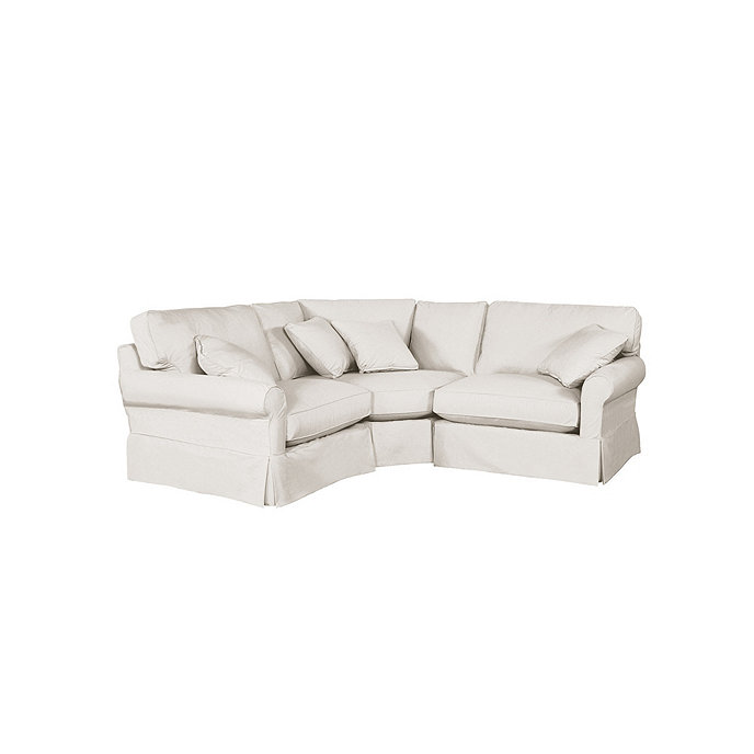 Baldwin wedge chair sectional slipcover special order for Ballard designs sectional sofa