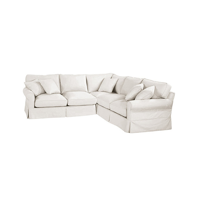 baldwin 3 piece corner loveseat sectional slipcover special order