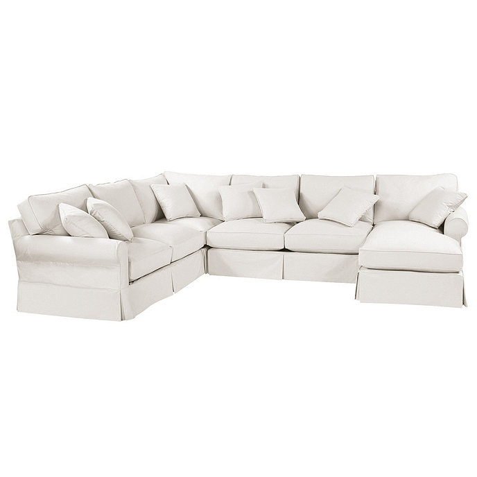 Baldwin 4 piece sectional with right arm chaise for Slipcovers for sectional sofa with chaise