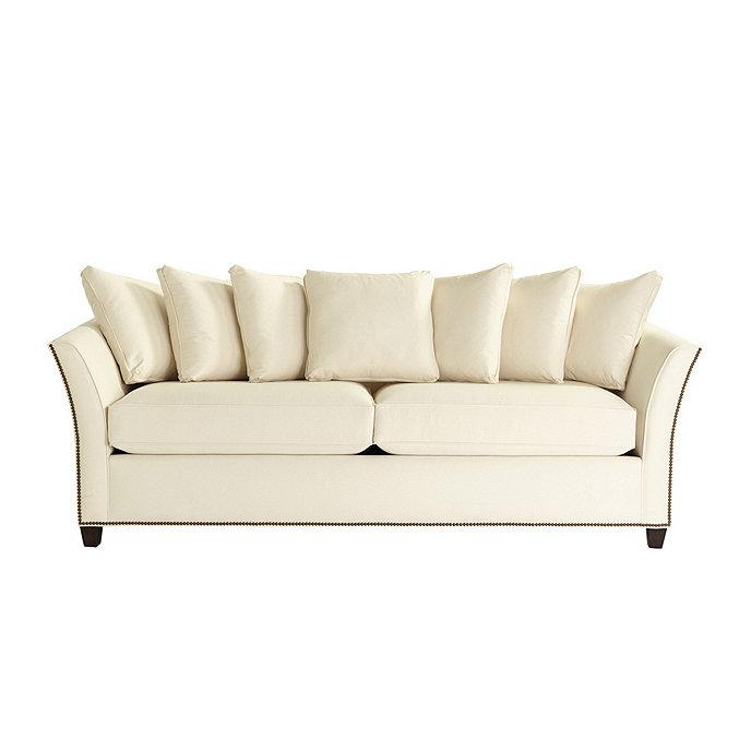 Tate sofa with antique brass nailheads ballard designs for Ballard designs sectional sofa
