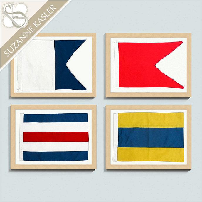 Signal Flag Rug: Suzanne Kasler Seafarer Nautical Flags