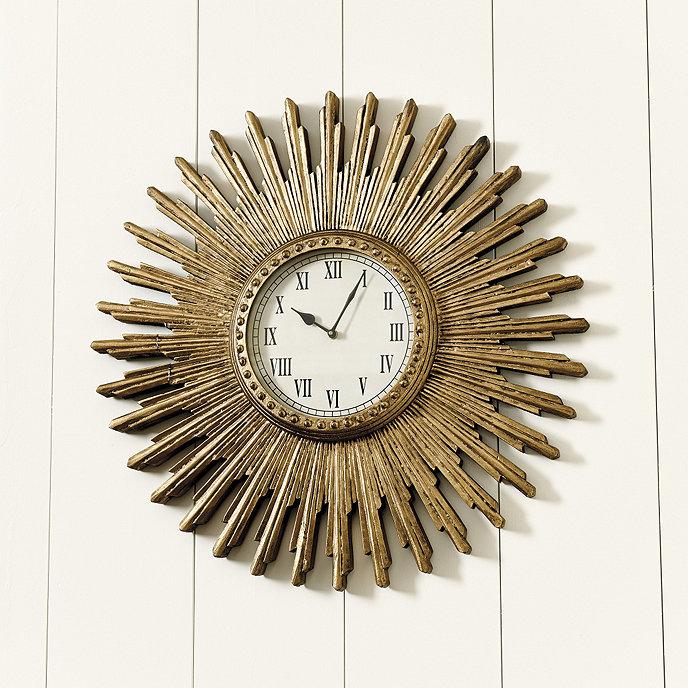 Wall Clock Ballard Design : Clara sunburst clock ballard designs