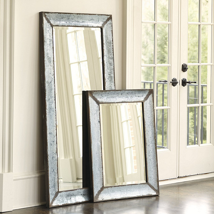 zinc framed mirror