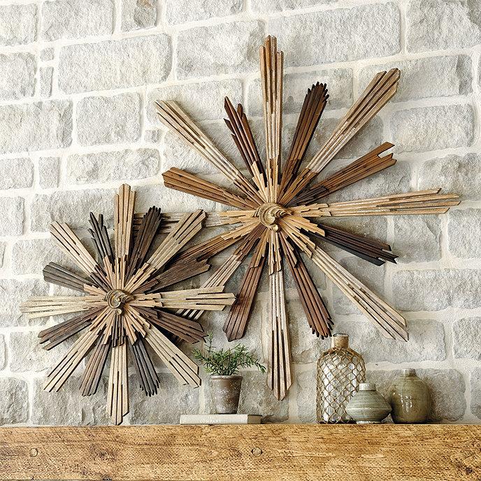 madera sunburst wall decor ballard designs. Black Bedroom Furniture Sets. Home Design Ideas