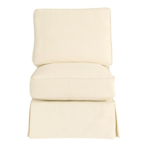 Davenport Armless Club Chair Slipcover - Special Order