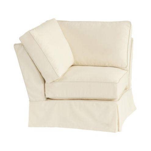 Davenport Corner Chair Slipcover | Ballard Essential Fabrics