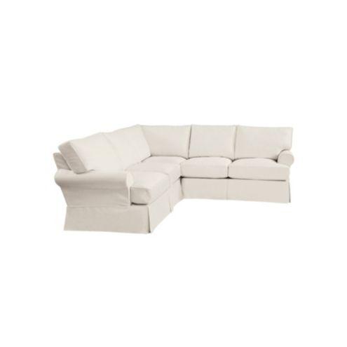 Davenport 3-Piece Sectional Slipcover - Ballard Essential Fabrics