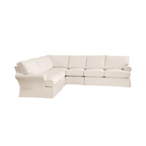 Davenport 4-Piece Sectional Slipcover - Ballard Essential Fabrics