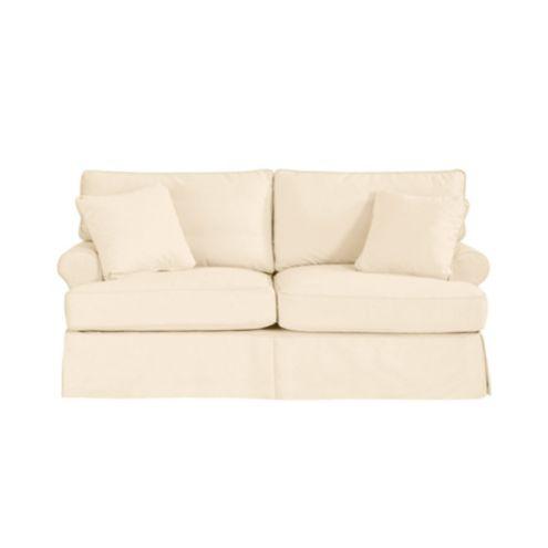 Davenport Apartment Sofa Slipcover - Ballard Essentials Fabrics