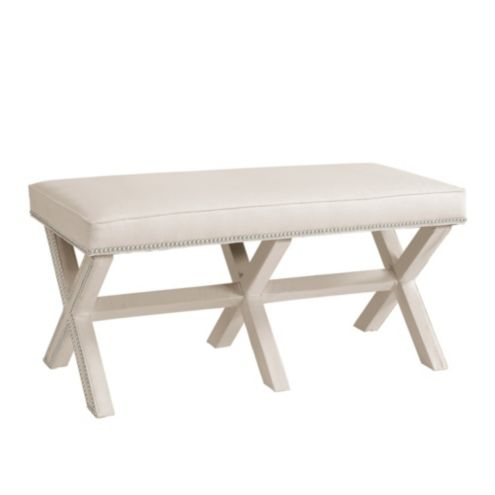Double X Bench with Nailheads