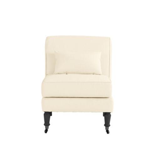 Leyland Armless Chair with Lumbar Pillow