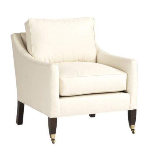 Griffin Club Chair with Self Welts