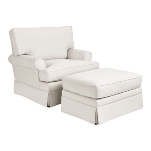 Davenport Upholstered Club Chair and Ottoman