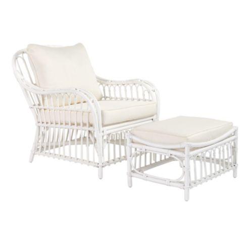Sorrel Rattan Chair & Ottoman