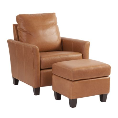 Layla Leather Chair & Ottoman