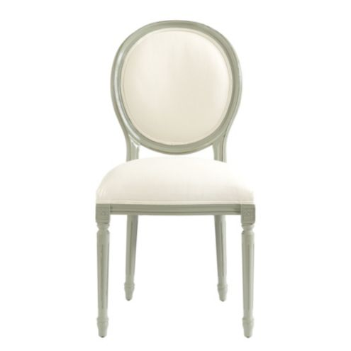 Oval Louis Side Chair COM Lacquer