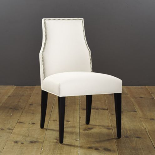 Mia Dining Side Chair with Pewter Nailheads