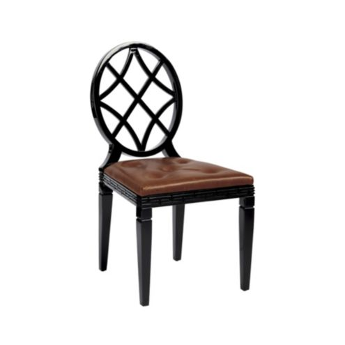 Miles Redd Leather Diamond Dining Chair