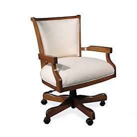 Rhodes Leather Desk Chair Ballard Designs
