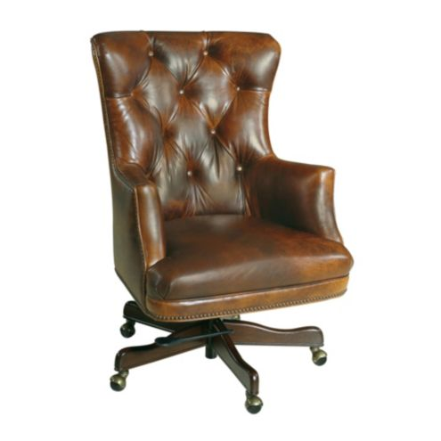 Casa Florentina Enzo Leather Desk Chair - Custom