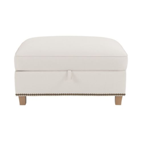 Carlton Storage Ottoman with Brass Nailheads