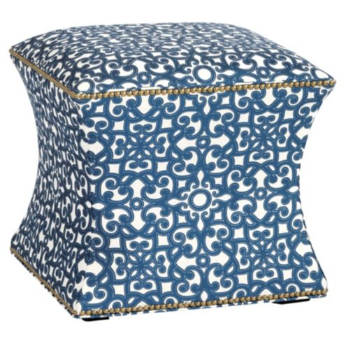 Courbe Ottoman in Brindisi Blue