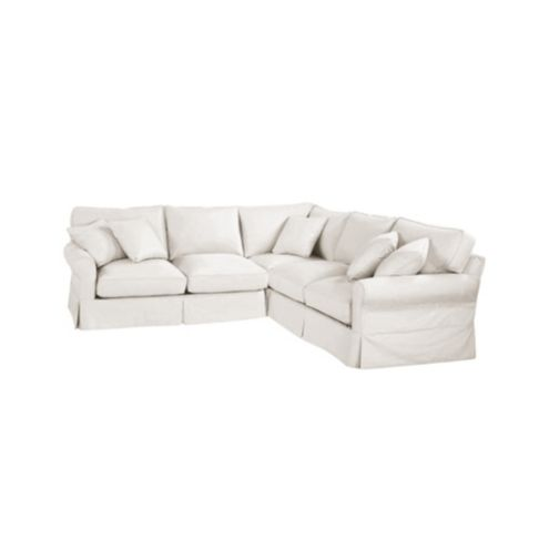Baldwin 3-Piece Corner Loveseat Sectional Slipcover - Special
