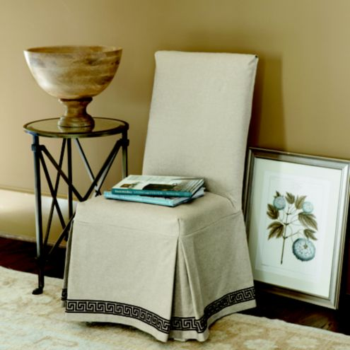 Parsons Slipcover Greek Key