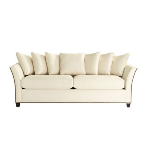 Tate Sofa with Antique Brass Nailheads