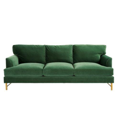 Kathryn Sofa in Queens Velvet Emerald