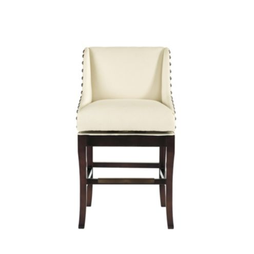 Marcello Counter Stool with Brass Nailhead Trim