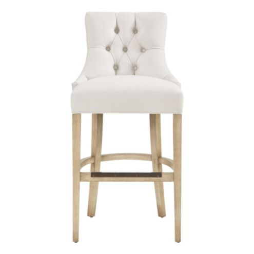 Gentry Barstool with Pewter Nailheads