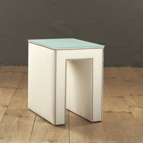 Hayden Upholstered Table | European | Inspired Home