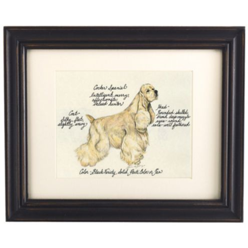 Cocker Spaniel Blonde Dog Print