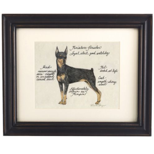 Miniature Pinscher Dog Print