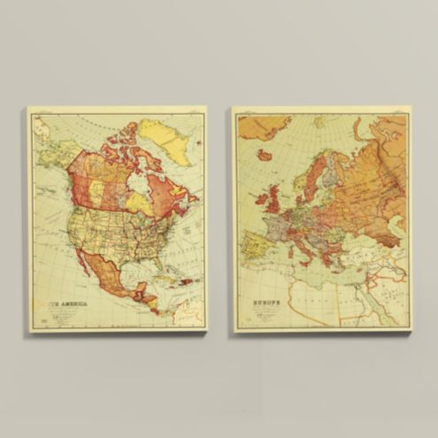 Suzanne Kasler Map Stretched Canvas