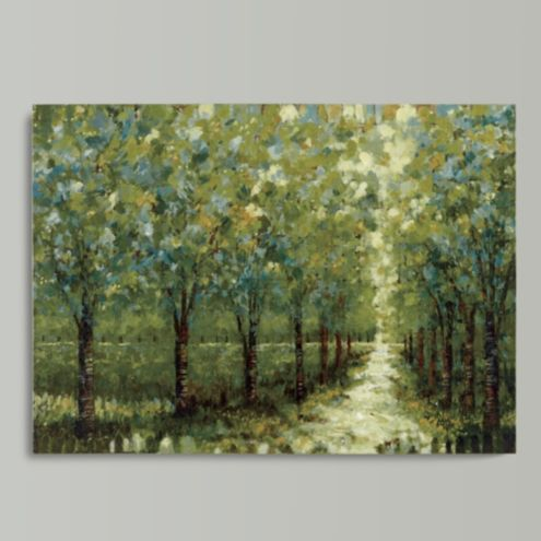 Spring Walkway Stretched Canvas