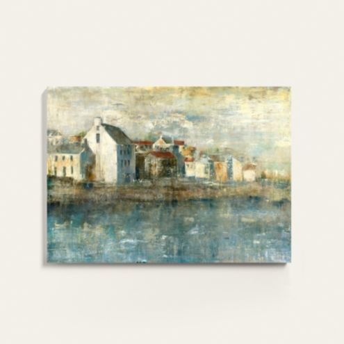 Village by the Sea Stretched Canvas