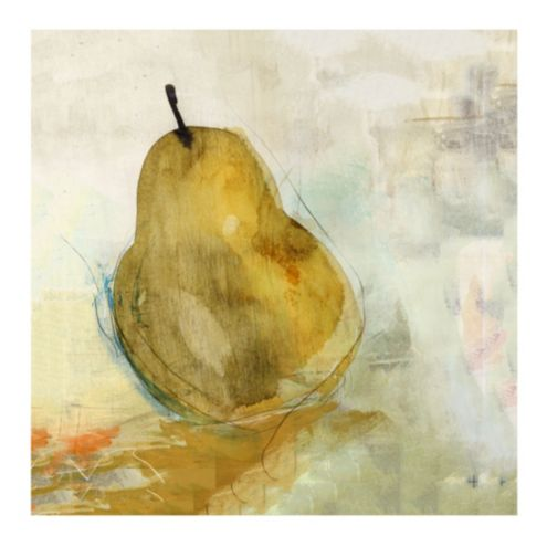 Golden Pear Stretched Canvas