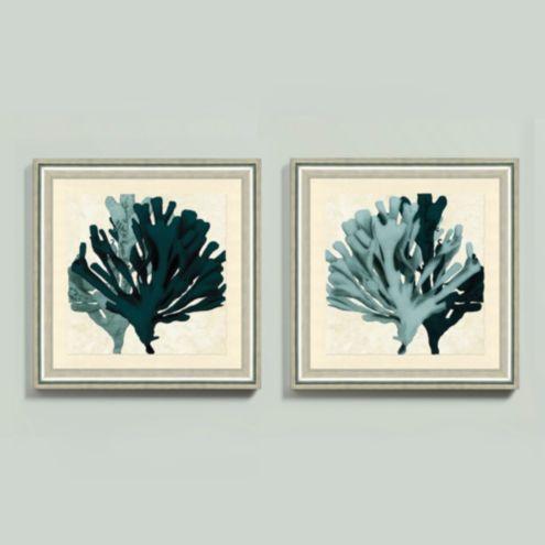 Spa and Teal Seaweed Framed Print