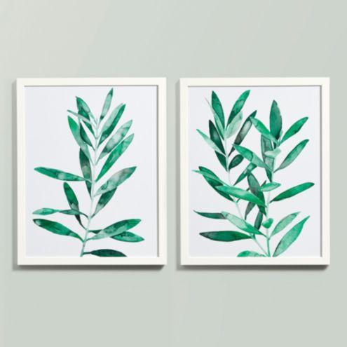 Emerald Leaves Art