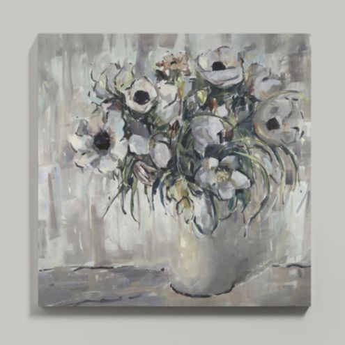 Anemones at Dusk Stretched Canvas