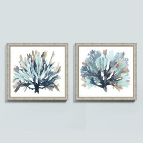 Seaside Coral Art - Blue