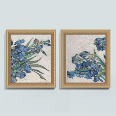 Enduring Blue Lilies Art