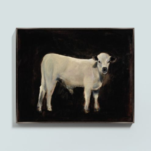 Mango the Cow Framed Canvas
