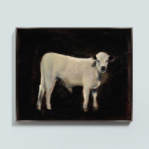 Mango the Cow Framed Canvas