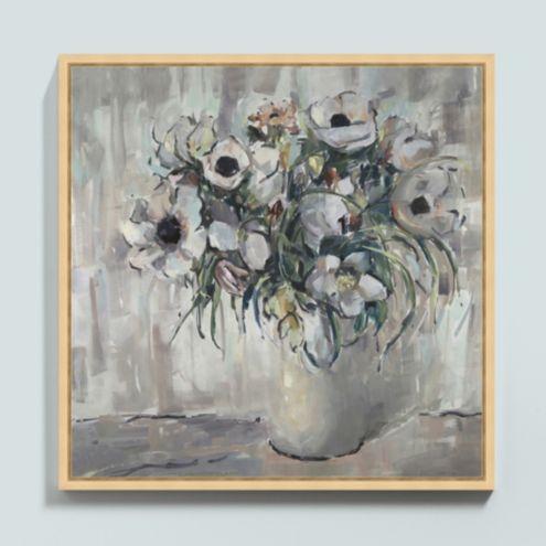 Anemones at Dusk Framed Canvas