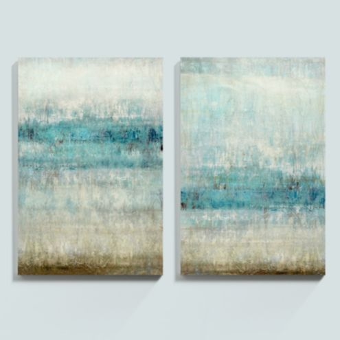 Nordic Abstract Stretched Canvas - Set of 2