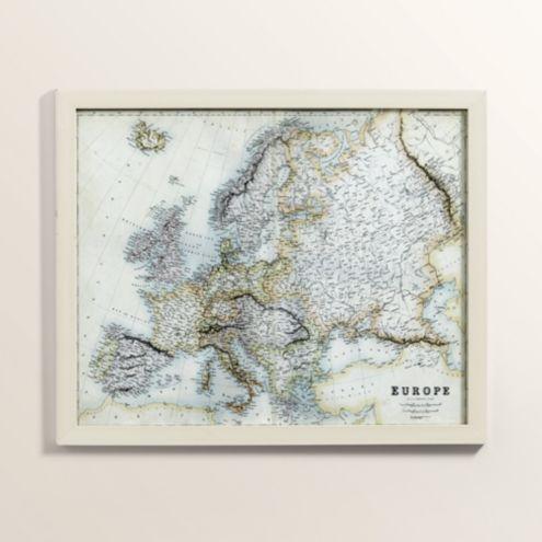 Petite Map of Europe Art